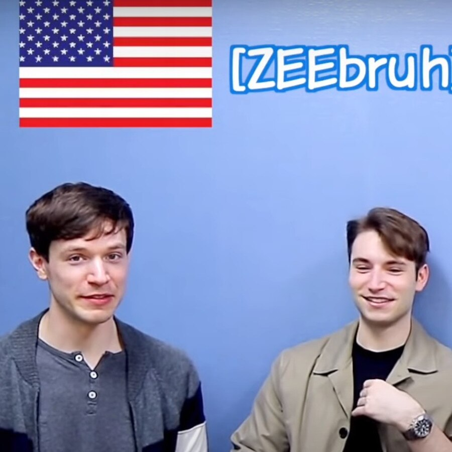 They all featured in a video on how to pronounce certain words, but 'American Jon' copped the most flak, especially over how he said 'zebra' and 'aunt'. Picture: YouTube/ KoreanBilly'sEnglish