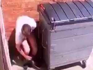 Man traps poo jogger behind his shop