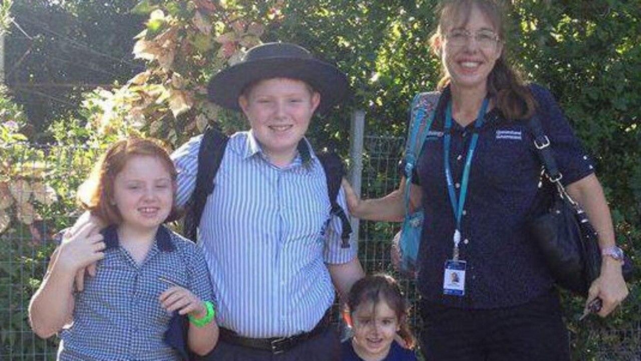 Rockhampton woman Karen Gilliland and her three children.