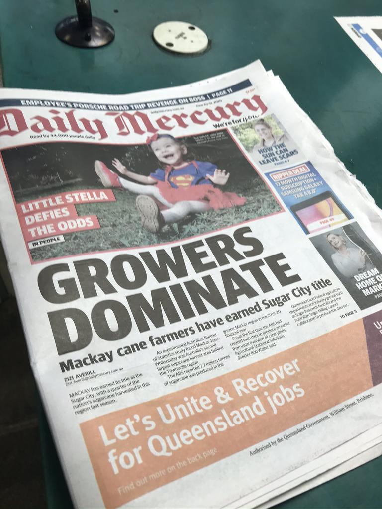 The seventh last Mackay Daily Mercury hot off the press.