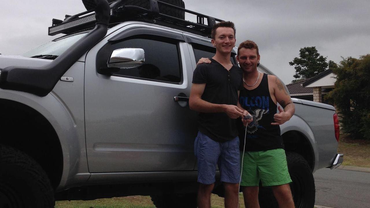 Zac Jones with older brother Ken. Picture: Supplied