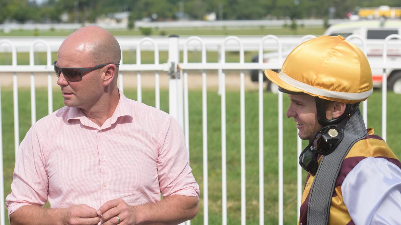 Murwillumbah rainer Matt Dunn and jockey Matt McGuren. Photo Adam Hourigan.