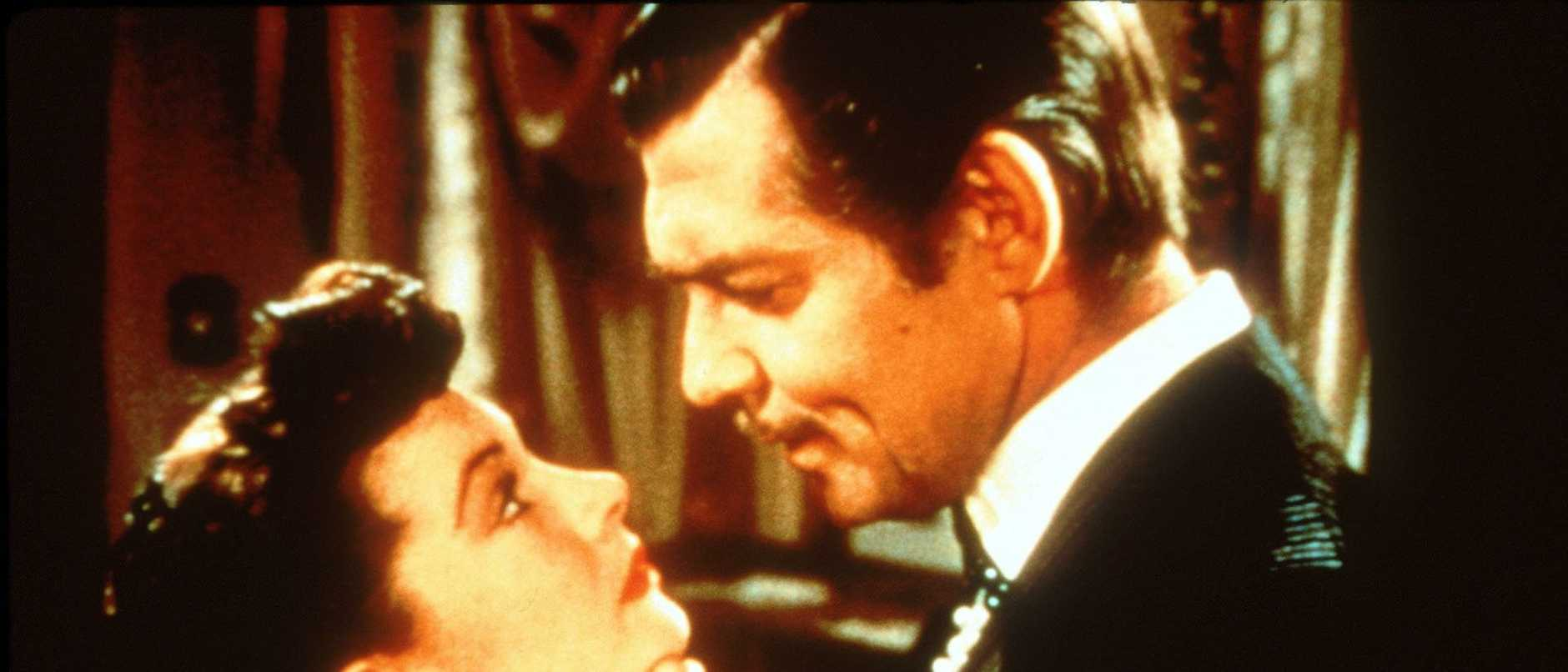 Actors Clark Gable and Vivien Leigh in the 1939 film 'Gone With The Wind'.