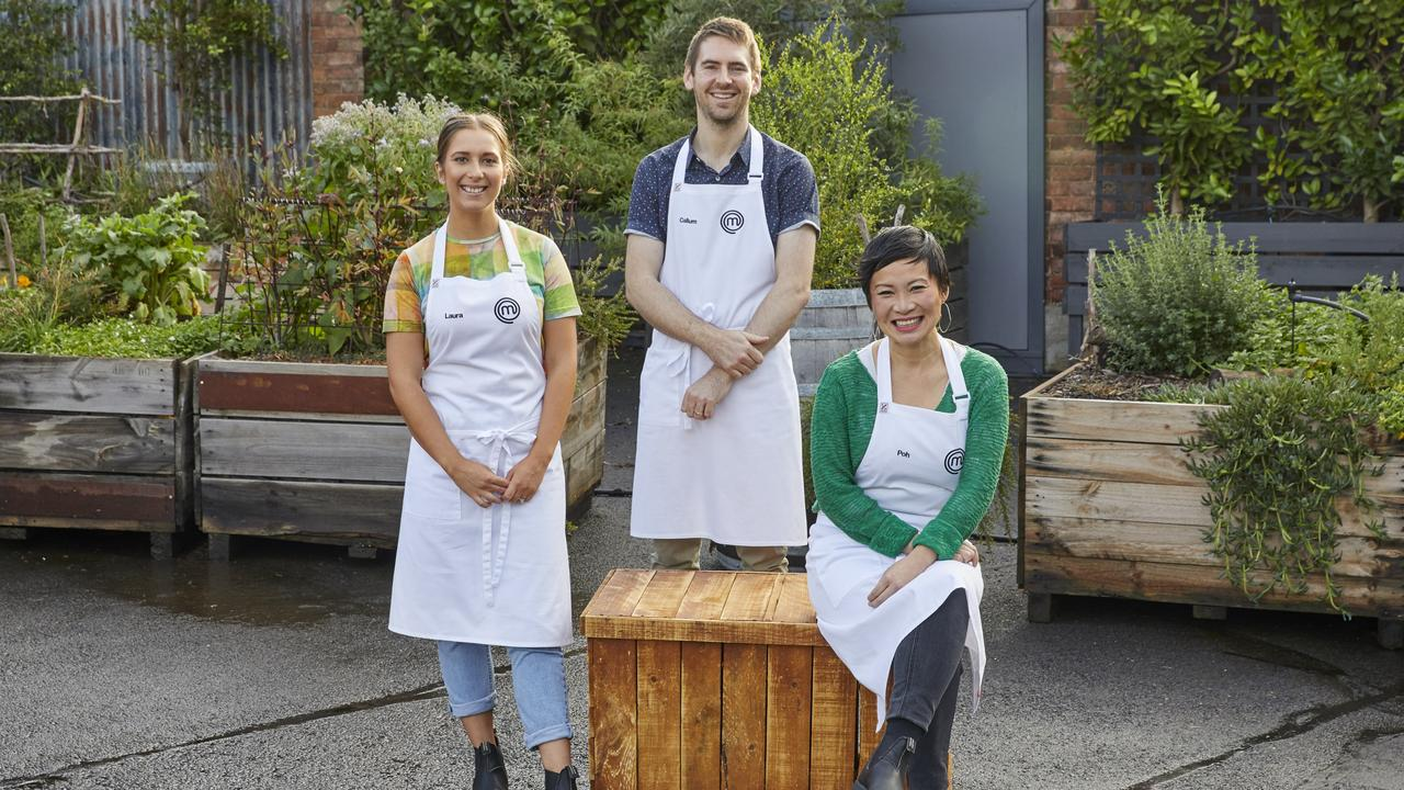 South Australian finalists Laura Sharrad, Callum Hann and Poh Ling Yeow. Picture: Network 10