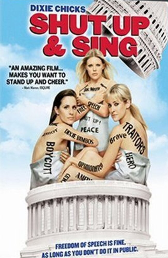 Dixie Chicks – Shut Up & Sing was released in 2006. Picture: Supplied