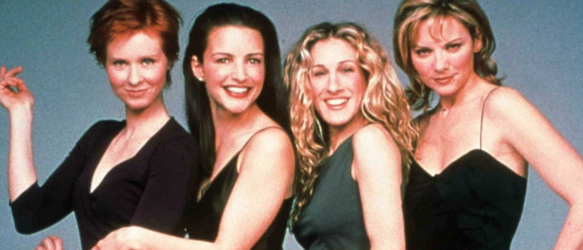 Cynthia Nixon, Kristin Davis, Sarah Jessica Parker and Kim Cattrall  in TV show 'Sex in the City'.