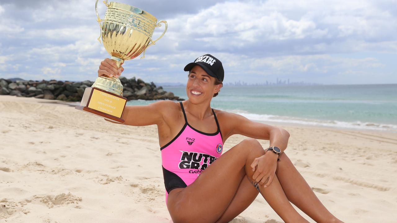 Lana Rogers won the 2019/2020 Nutri-Grain IronWoman Series overall title last December in Surfers Paradise.