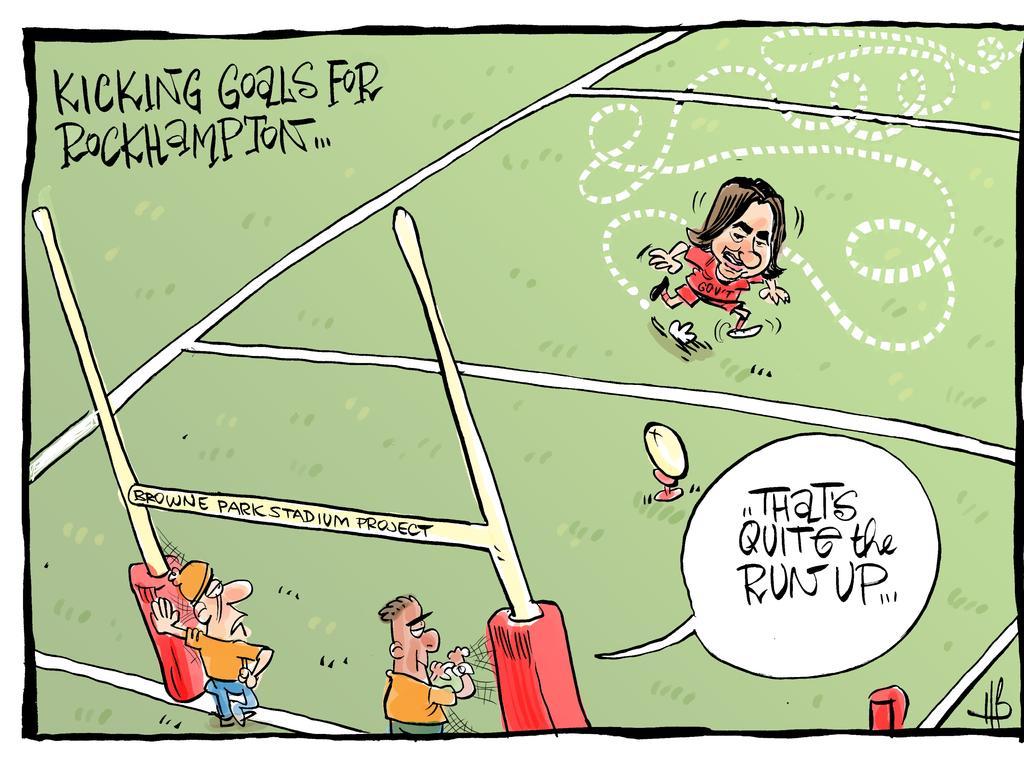 The Morning Bulletin cartoon.