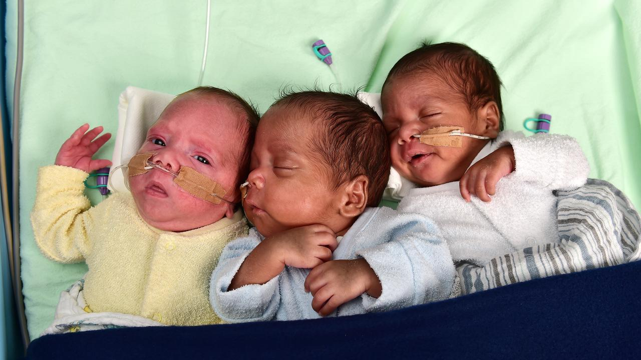 Triplets Elijah, Jaxson and Jett Bee are making good progress since their birth last month, under the watchful eyes of nurses and doctors.
