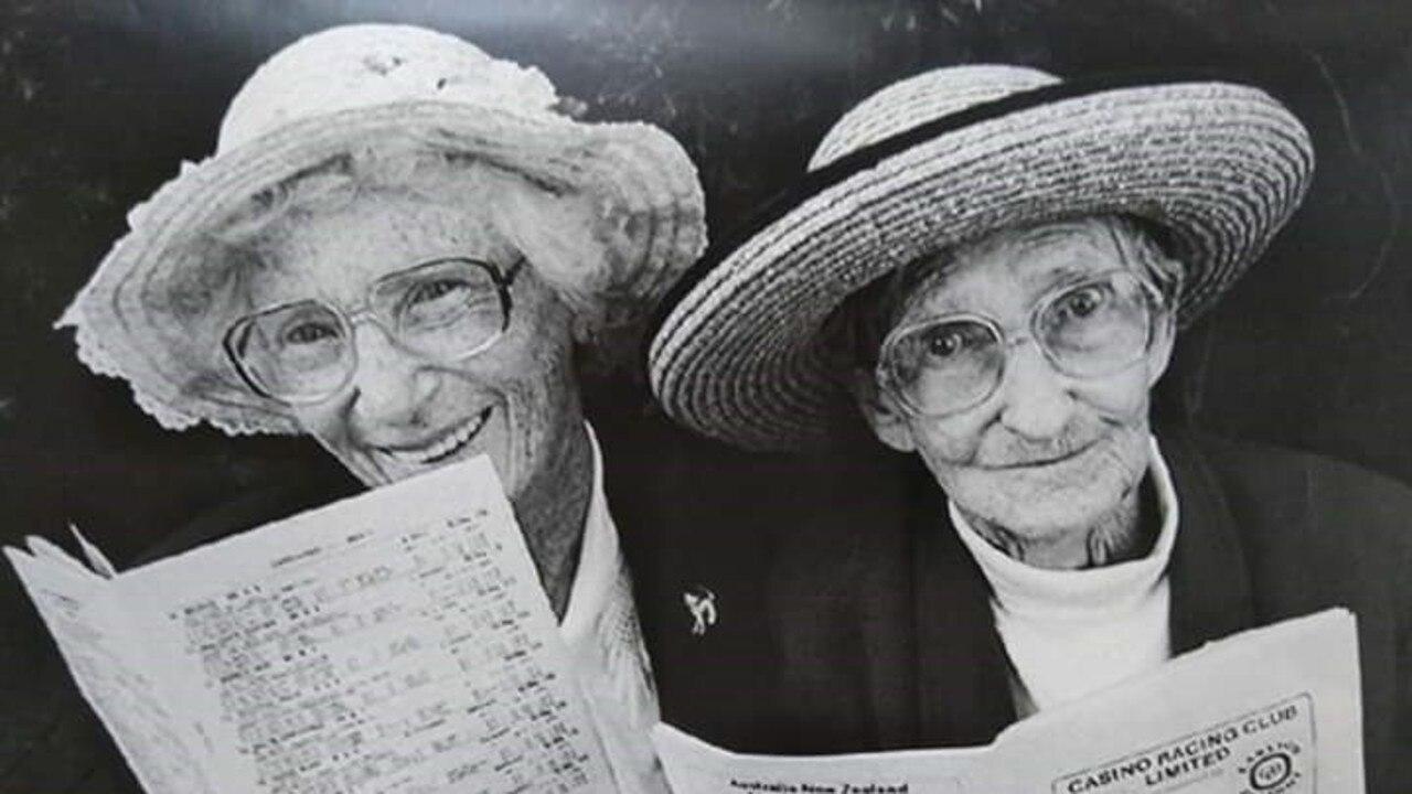 Two friends enjoying the Casino Beef Week.