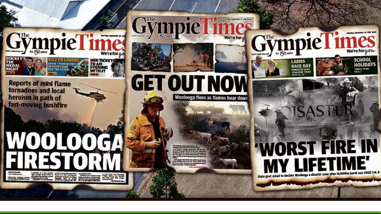 152 years of Gympie news, 152 years of front page headlines.