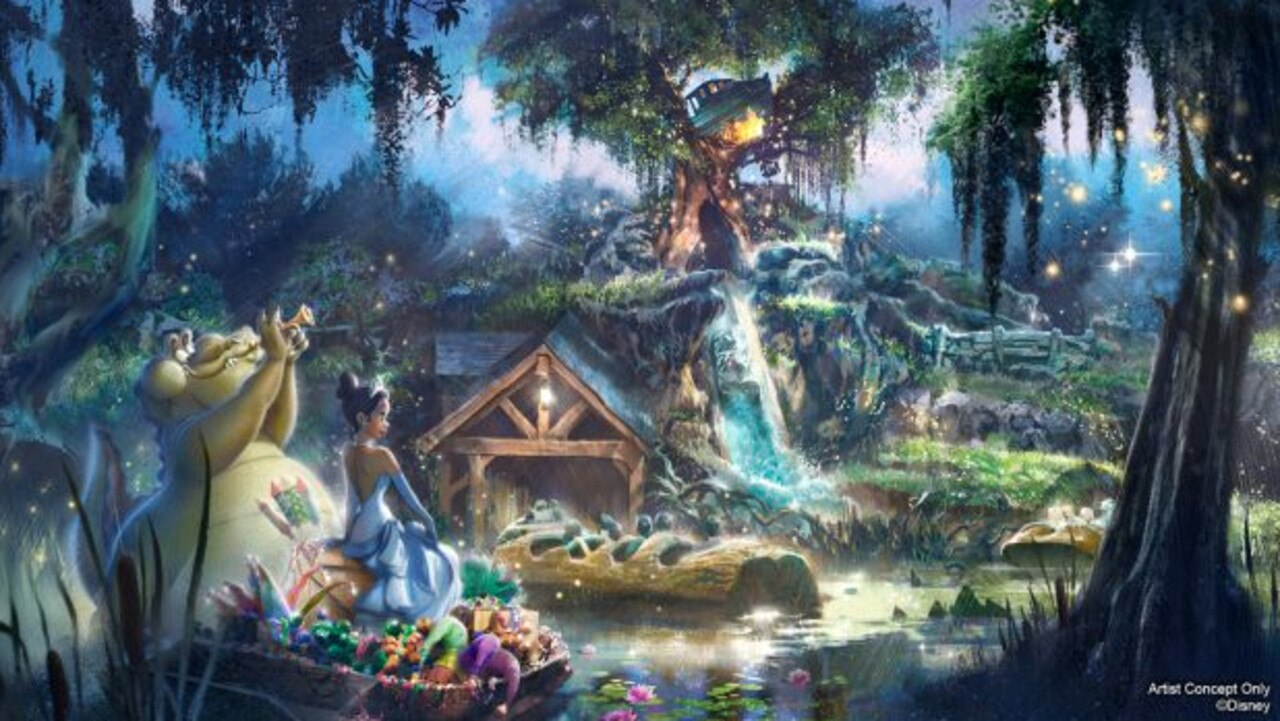 An artist concept of the rethemed Splash Mountain rides. Picture: Disney