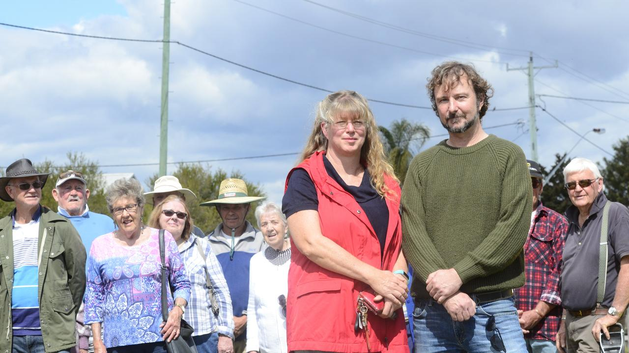 UNITED: Anne Loyd and Steve Pickering along with the Tyndale and Ulmarra Progress Associations welcomed the council's move to lobby for an Eight Mile Lane upgrade.