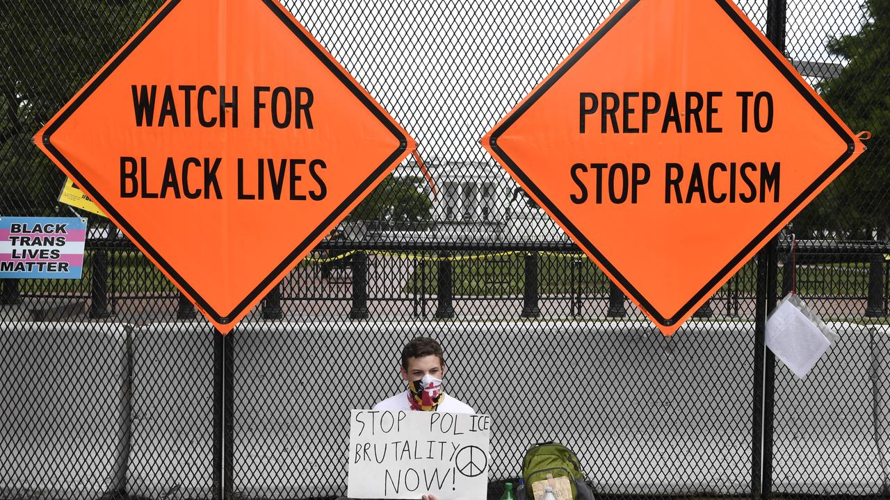 Protesters have been campaigning for a change to systemic racism in America, sparked by the death of George Floyd, a black man who was in police custody in Minneapolis. Picture: Susan Walsh/AP