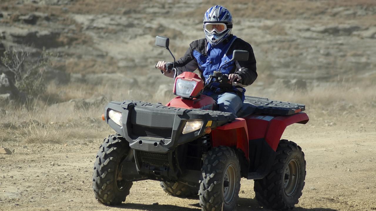 Generic image of a quad bike motorbike rider.