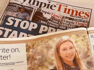 Author joins chorus of tributes to the Gympie Times print