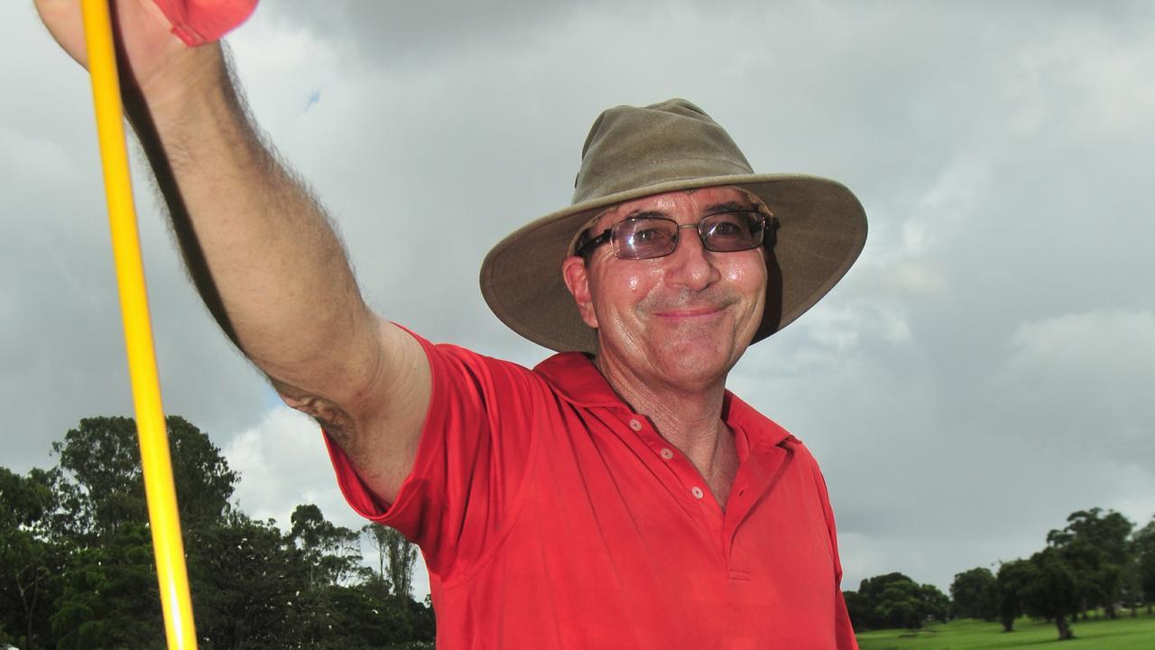 Ken Sleep enjoying a round at Maryborough golf club. Photo: Nat Bromhead / Fraser Coast Chronicle