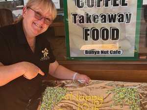 Bunya Bash: Blackbutt cafe celebrates epic milestone