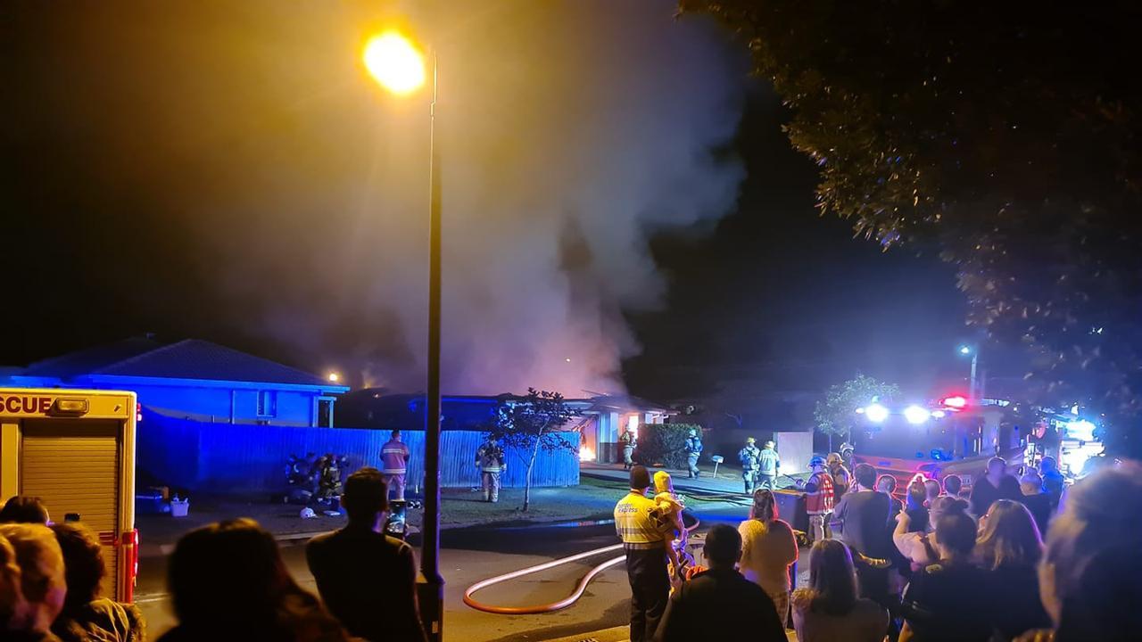 House fire in North Booval June 26. Picture: Natasha Fulton