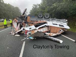 Prolonged delays expected on Bruce Hwy after rollover
