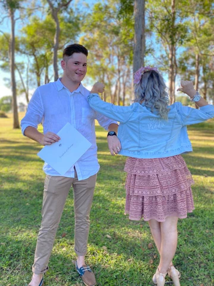 Shauna and Jacob Peddie couldn't wait to get married.