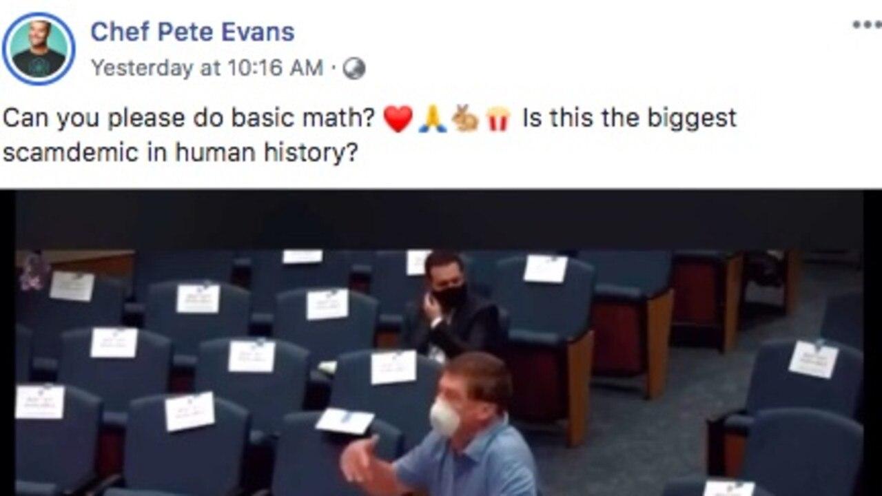 Evans has a large platform on social media.