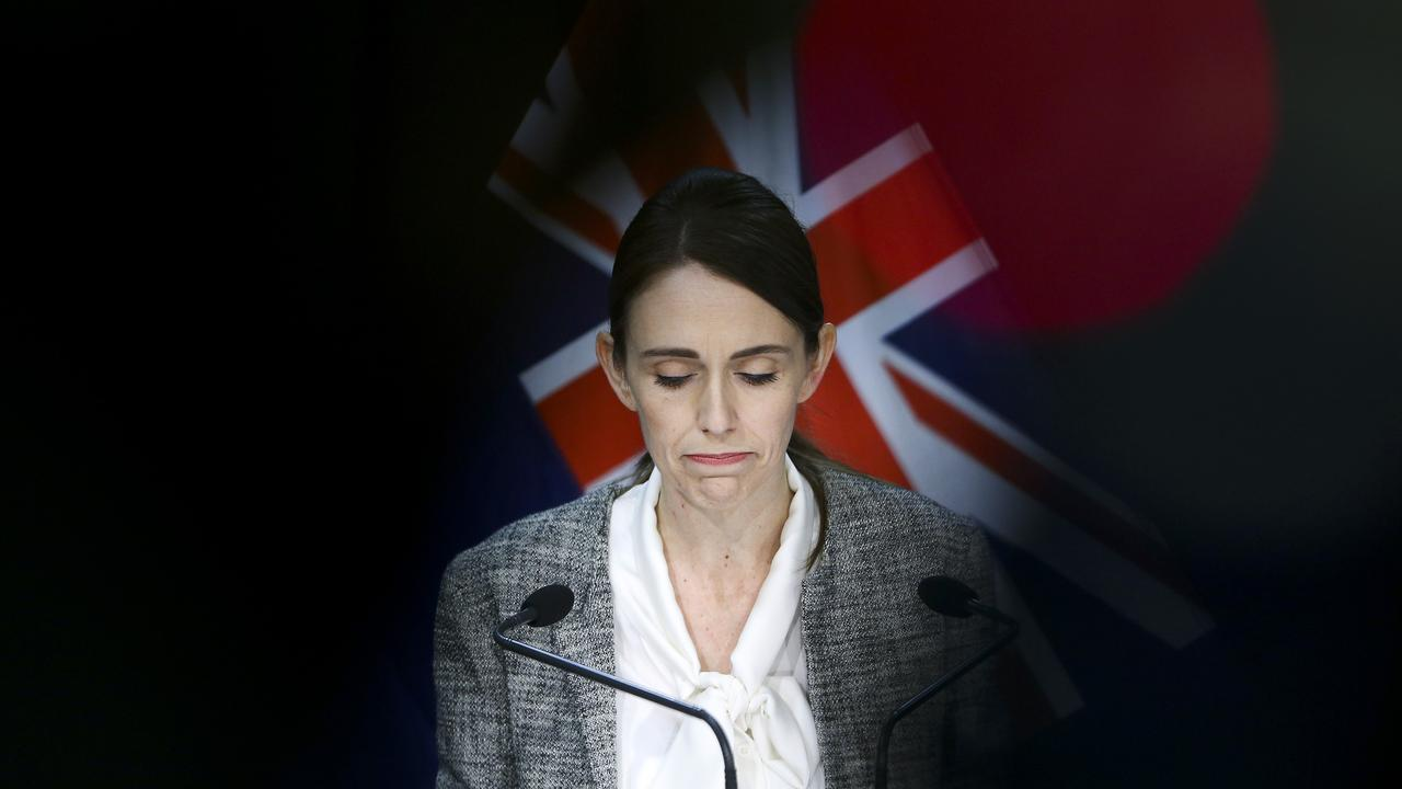 NZ PM Jacinda Ardern during a press conference on June 17 2020 when, after 24 days without an active case in the country, two new cases of COVID-19 were confirmed. Picture: Hagen Hopkins/Getty Images.
