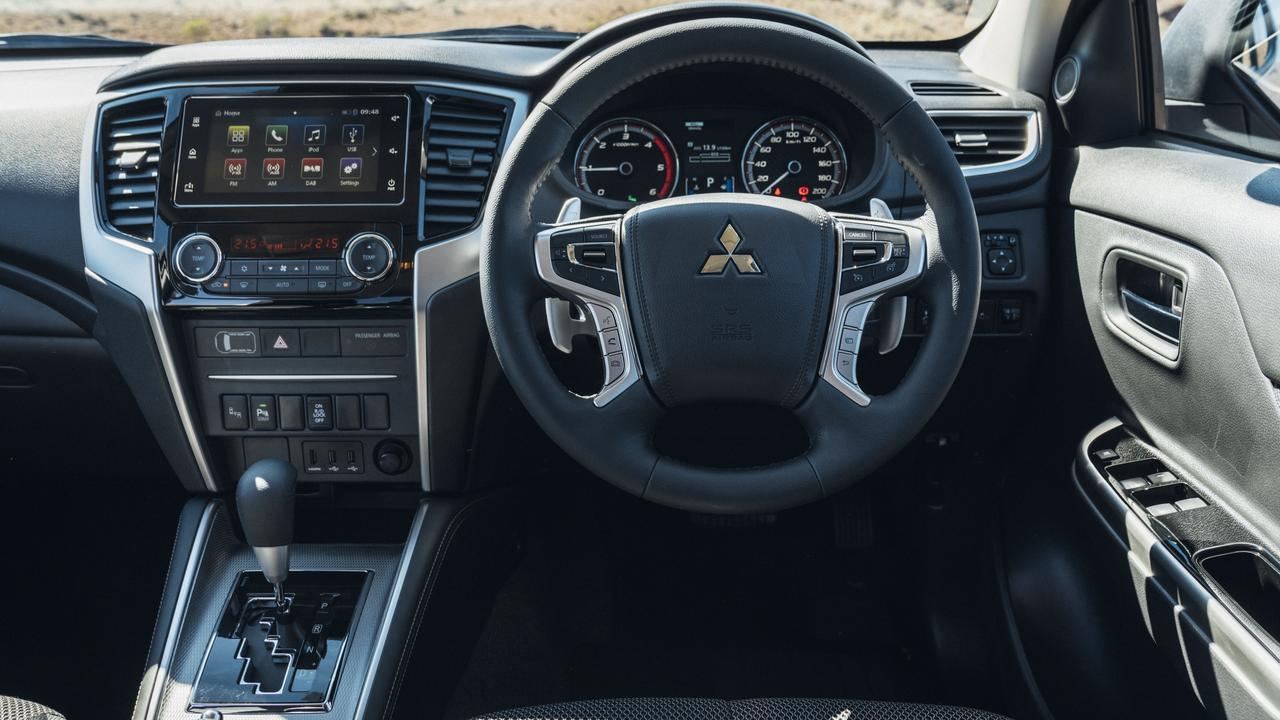 The Mitsubishi Triton GLS comes with 18-inch alloys, seven-inch touchscreen featuring smartphone mirroring apps Apple CarPlay and Android Auto.