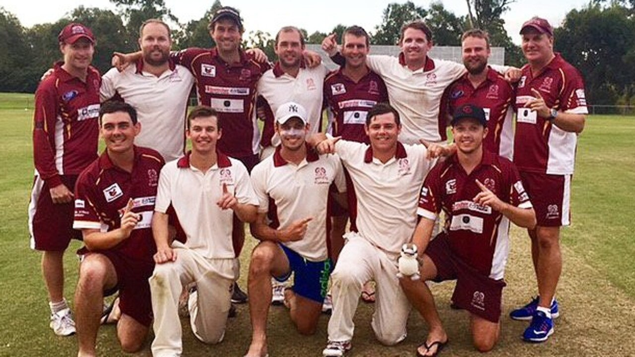 The victorious 2017 Centrals first division cricket team.