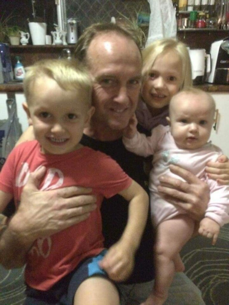 David Routledge with his grandchildren.