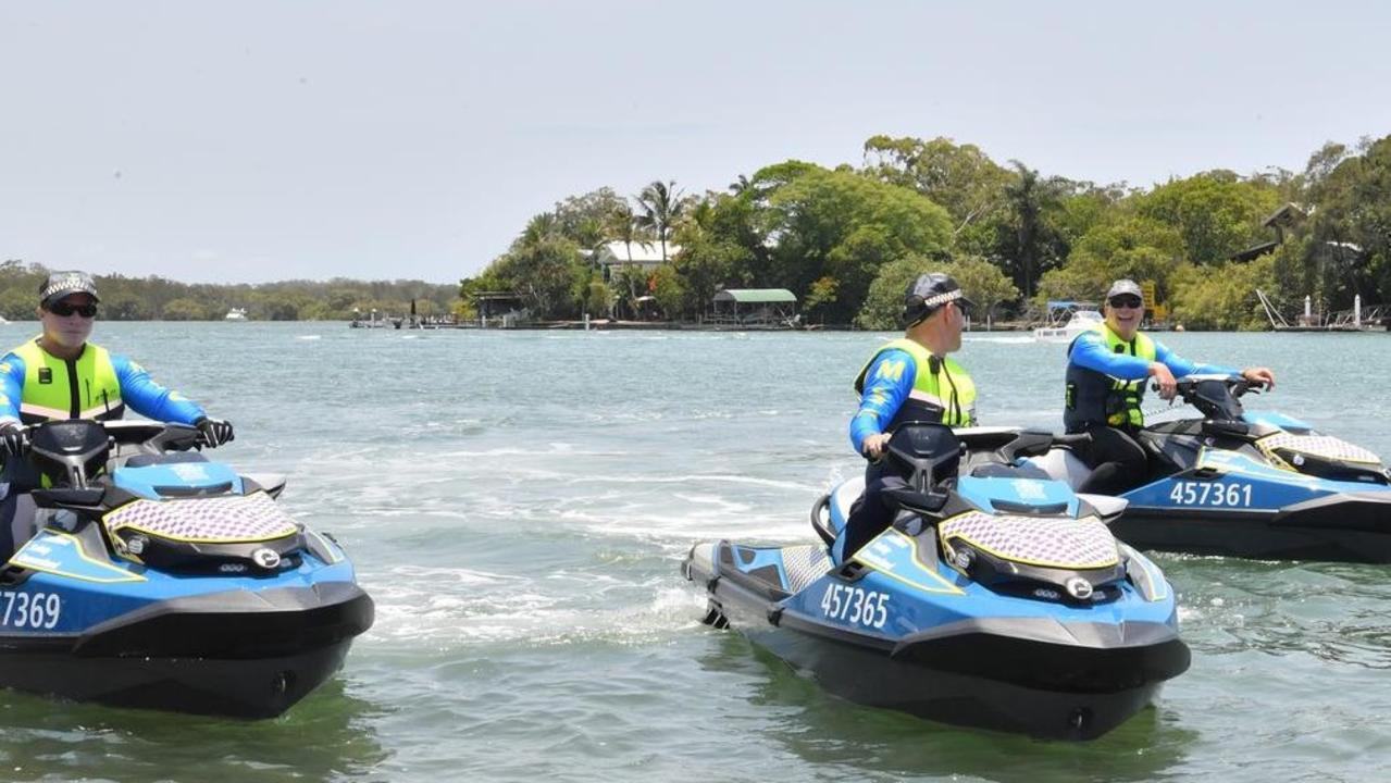 Water Police patrol Noosa River over the weekend.