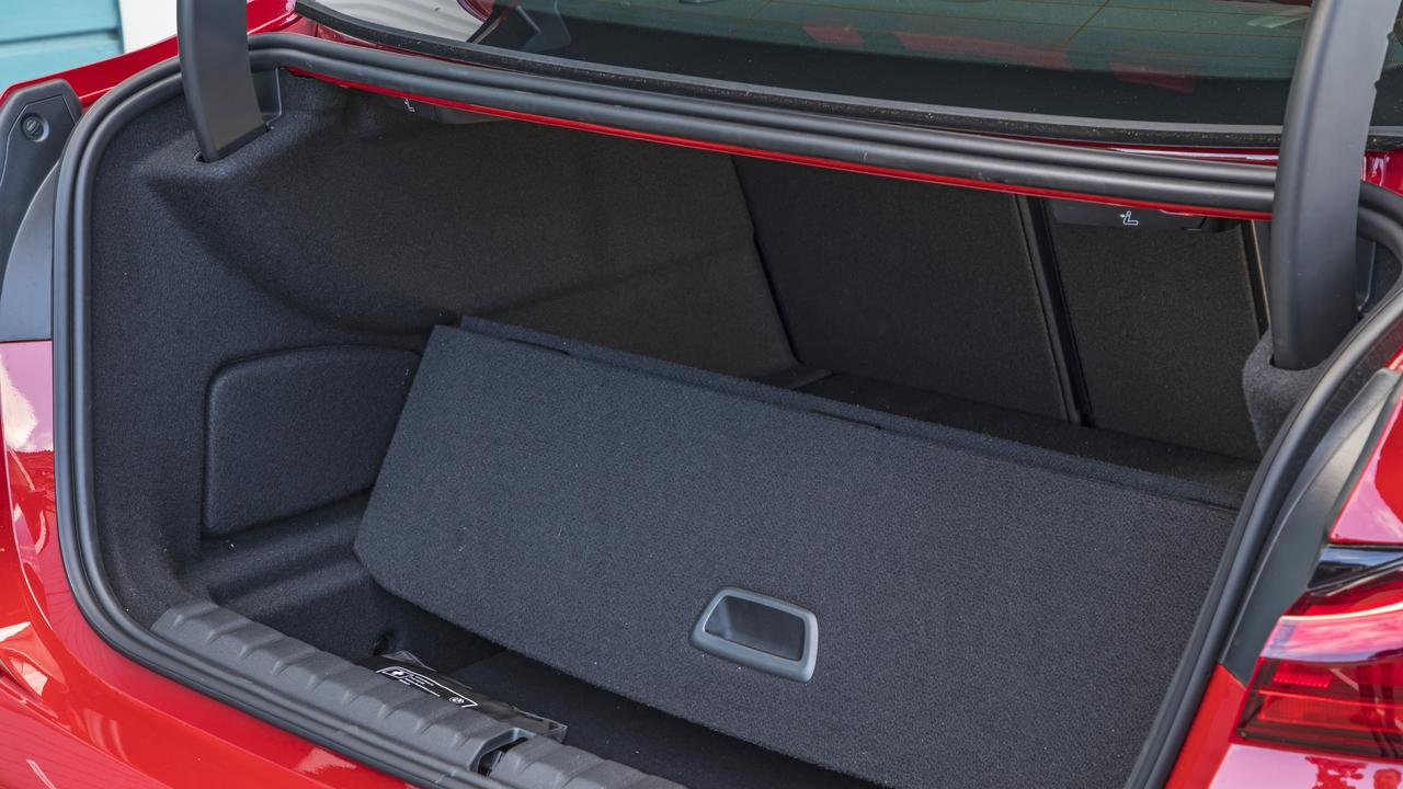 Generous boot space of the BMW M235i Gran Coupe.