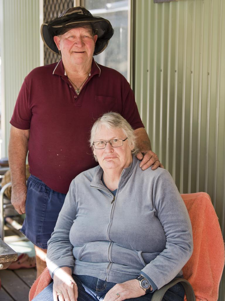 Norm Chapman and Wendy Moline are concerned about the growth of wattle after bushfires in the Cypress Gardens area. Sunday, 28th Jun, 2020.