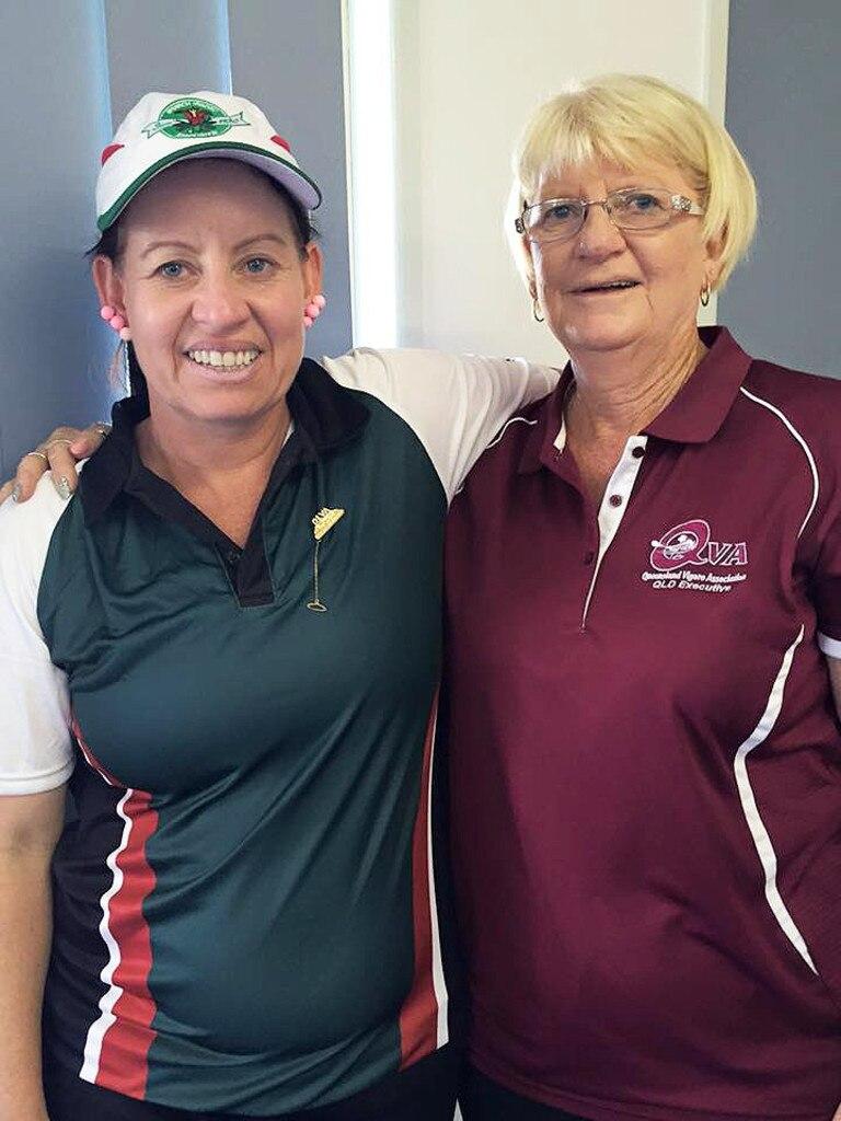 Ipswich and Queensland vigoro official Janet Savage with her daughter Rachel.