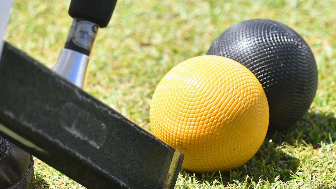 Croquet is back at the Yamba Bowling Club.Photo: Alistair Brightman