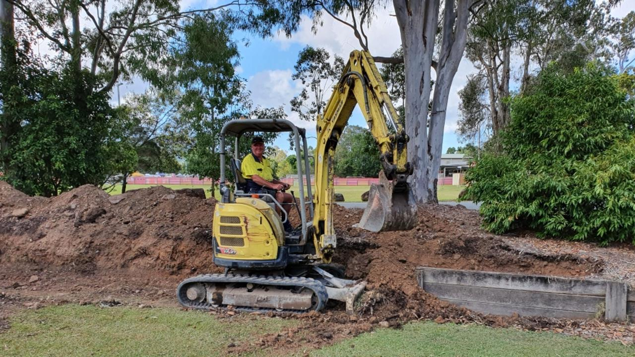 Yandina Cricket Club is currently upgrading a retaining wall and received funding for their clubhouse roof in the 2020/21 Sunshine Coast Council budget