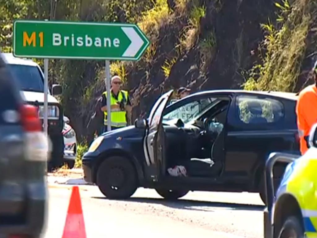 7 News Sunshine Coast footage of the horror Parklands crash on Friday which killed a father of four.