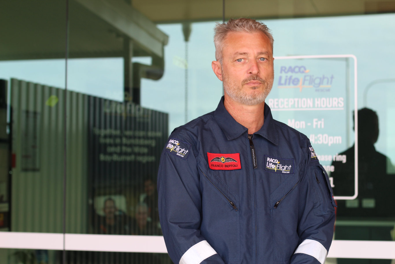 DAY 3: Bundaberg-based RACQ LifeFlight helicopter pilot Franco Bertoli is one of many people who have been out looking for a man, 54, who reportedly fell overboard of Saturday.
