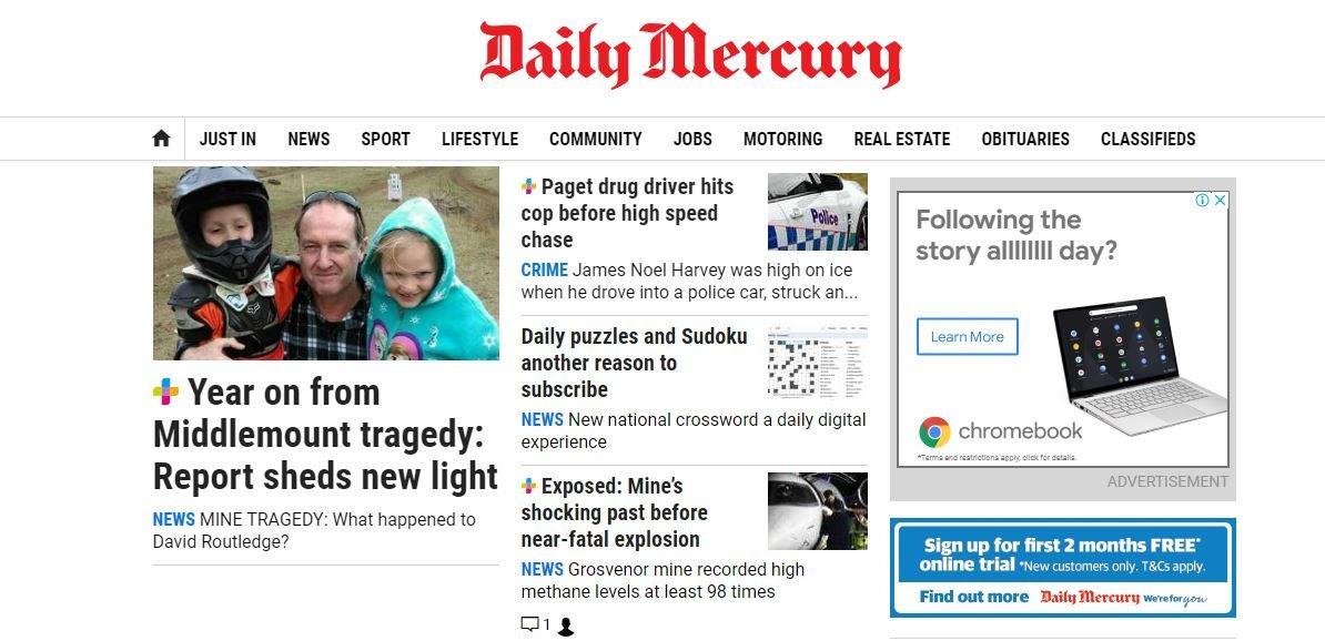 Mackay Daily Mercury website