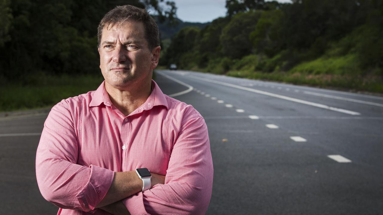 Federal MP and Former Policeman Llew O'Brien who suffers from PTSD from years of being a First Responder to road crash fatalities along notorious stretches of the Old Bruce Highway. Photo Lachie Millard