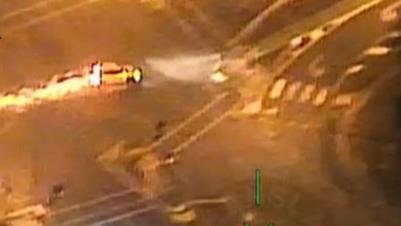 Polair footage of the vehicle shortly before it crashes. Picture: Queensland Police