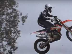 WATCH: Motocross riders hit huge jumps on practice day