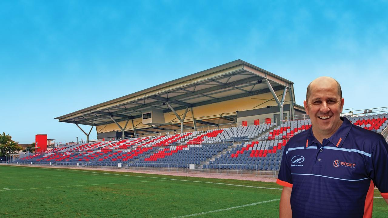 STADIUM ALTERNATIVE: Rocky Sports Club's Gavin Shuker recently inspected the Redcliffe Stadium and believes one similar could be built at Victoria Park, Rockhampton.
