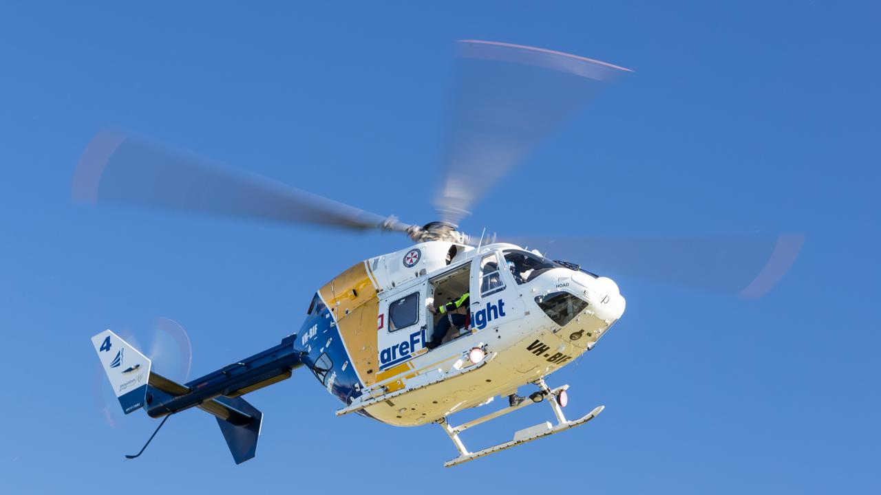 Careflight's rapid response helicopter was called to the scene.