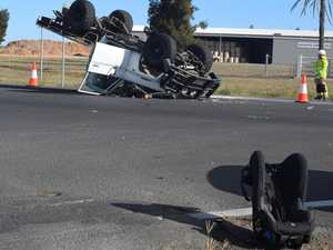 Child hospitalised after rollover in  three car Hwy pileup