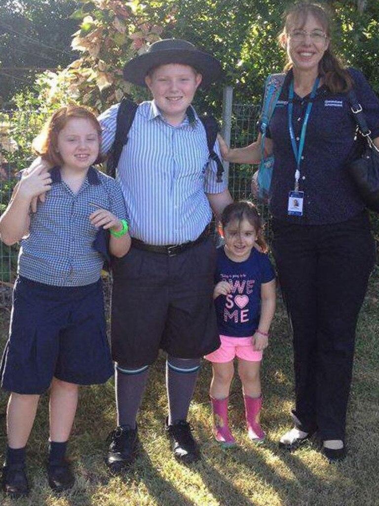 Karen Gilliland and her three children.