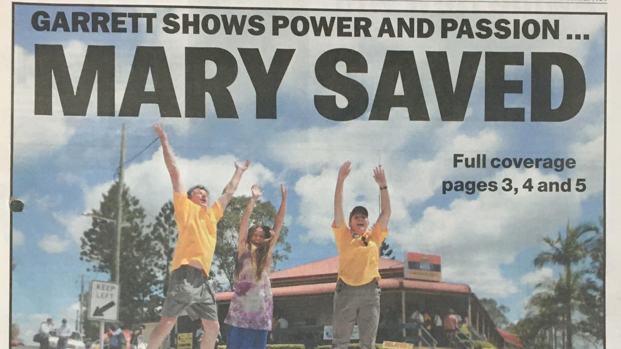 Peter Garrett says no to the Traveston Crossing dam Thursday, November 12, 2009.