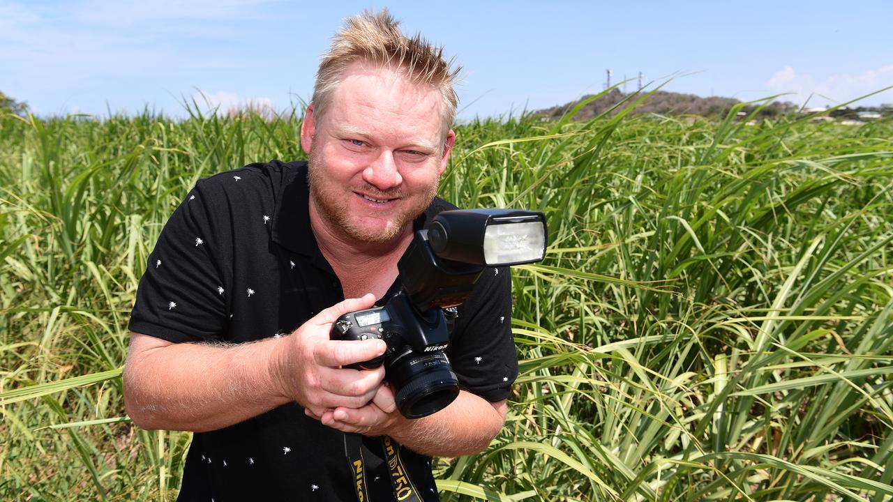 Writer/directoe/producer Scott D Clark in Bundaberg shooting stills for his short film titled Him. Photo: Mike Knott.