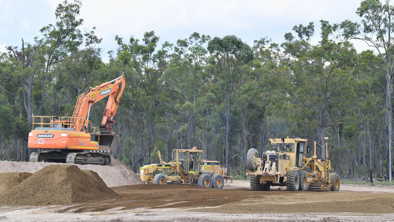 Rheinmetall NIOA Munitions (RNM) on-site works commence at Moonaboola Industrial Estate, Maryborough West.Photo: Alistair Brightman