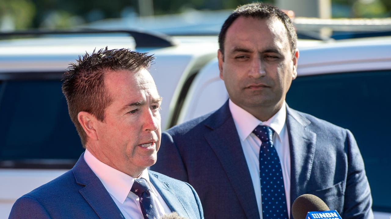 The Coffs Harbour office will be one of four new offices for the Department of Regional NSW. New South Wales Minister for Regional Transport and Roads with State Member Paul Toole with Coffs Harbour MP Gurmesh Singh.